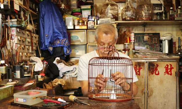 'Uncle Cai' May Be Last Birdcage maker in Hong Kong